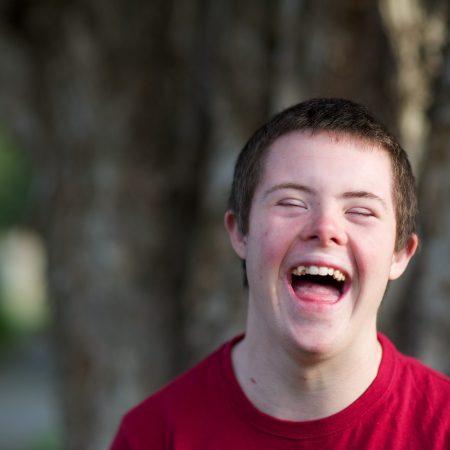 disability smiling boy